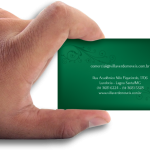 Cartão de Visita Villa Verde-Verso