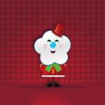 Máscote de Natal para uma Loja de Cama, Mesa e Banho.
